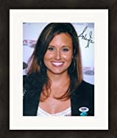 Autograph Warehouse 312870 8 x 10 in. Ashley Force Autographed Photo - NHRA Drag Racing PSA No. 2 Matted & Framed from Autograph Warehouse