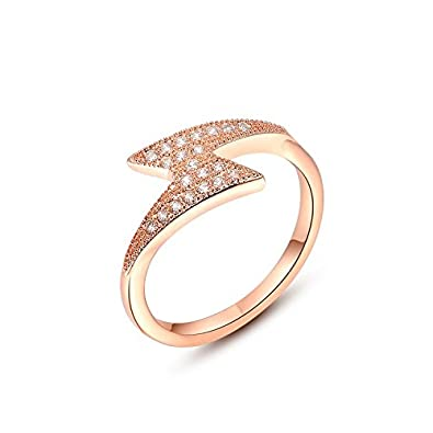 e5d8969bc Buy Carina Fashion Designer Diamond 18k Rose Gold Plated Swarovski Crystal  Fashion Finger Ring for Women Girl Online at Low Prices in India | Amazon  ...