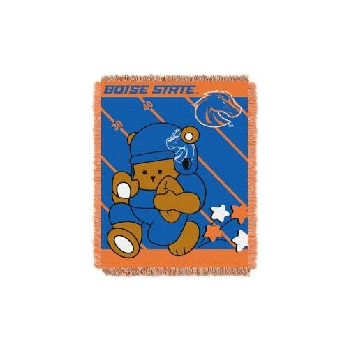 The Northwest Company Officially Licensed NCAA Boise State Broncos Fullback Woven Jacquard Baby Throw Blanket, 36