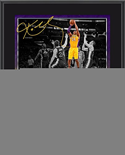 Kobe Bryant Los Angeles Lakers 10 5  X 13  60 Point Finale Sublimated Plaque   Fanatics Authentic Certified