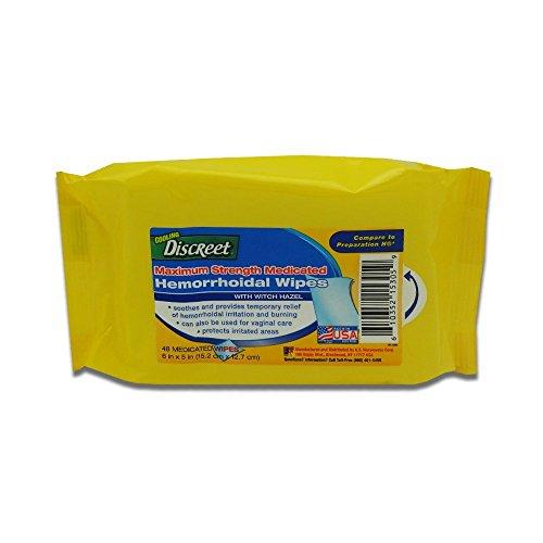 Discreet Maximum Strength Medicated Hemorrhoidal Wipes
