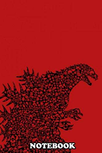 """Notebook: Godzilla , Journal for Writing, College Ruled Size 6"""" x 9"""", 110 Pages"""