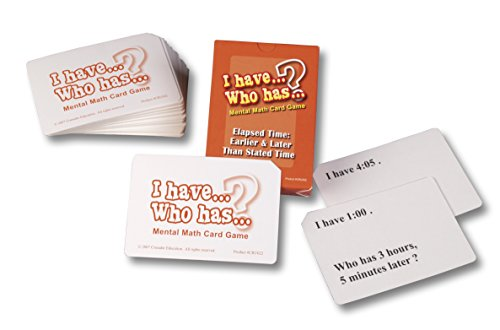 - Learning Advantage 022 I Have Who Has Card Decks, Elapsed Time: Earlier and Later Than Stated Time