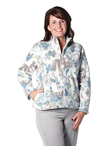 Alfred Dunner Northern Lights Floral Patch Fleece Jacket Multi PS