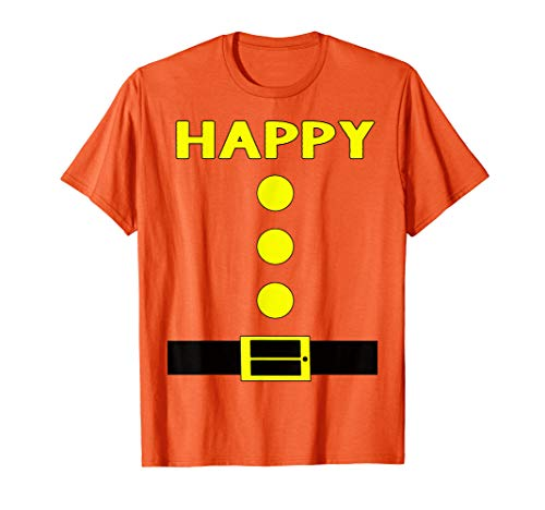 Happy Dwarf Halloween Costume (Orange Happy Dwarf Halloween Costume Gifts Idea Happy Dwarf)