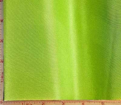 Bright Green Shiny Satin Knit Interlock Fabric 2 Way Stretch Polyester 6 Oz 58-60