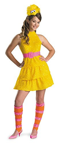 UHC Girl's Tween Sesame Street Big Bird Outfit Fancy Dress Halloween Costume, Child L (10-12)