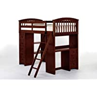 NE Kids School House Student Loft Bed in Cherry