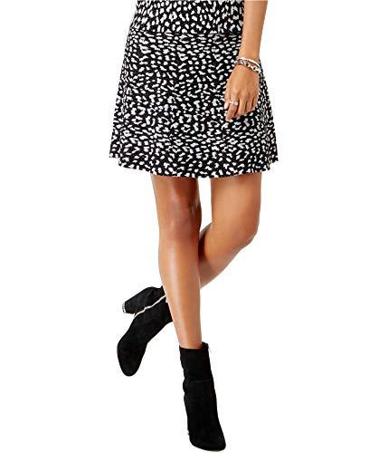 Michael Michael Kors Womens Metallic Animal Print A-Line Skirt Black -