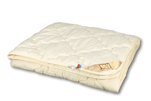 Smart And Cozy MODERATO 100% Organic Lightweight Comforter with Merino Wool Filler, Quilted -