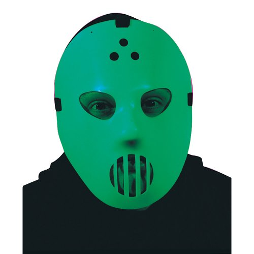 Click on Party Hockey Mask Glow in the Dark Costume Accessory -