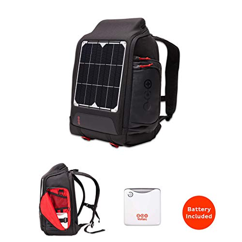 Voltaic Systems OffGrid 10 Watt Rapid Solar Backpack Charger   Includes a Battery Pack (Power Bank) and 2 Year Warranty   Powers Phones Including iPhone, Tablets, USB Devices, More - Silver