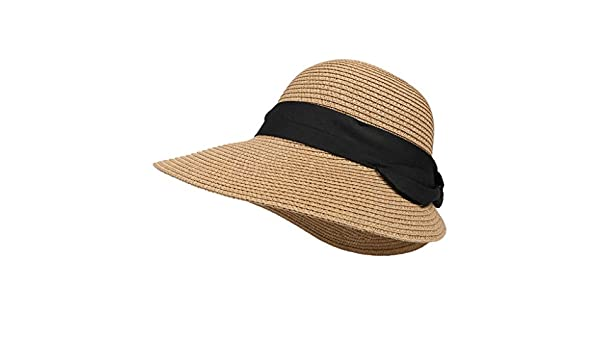 489b2032137 Amazon.com  TANGSen Outdoor Fashion Straw Hat Womens Retro Girls Straw  Beach Sun Summer Casual Hat Coffee  Clothing