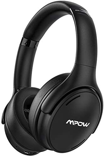Mpow H19 IPO Active Noise Cancelling Headphones, Bluetooth 5.0 Headphones with Deep Bass, Fast Charge, 35H Playtime, Lightweight Headset, CVC 8.0 Mic for Home Office, Online Study, Travel