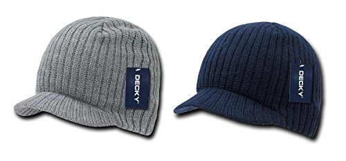 - DECKY Campus Jeep Cap Asst Colors 2 PK (One Size, H.Grey / Navy)