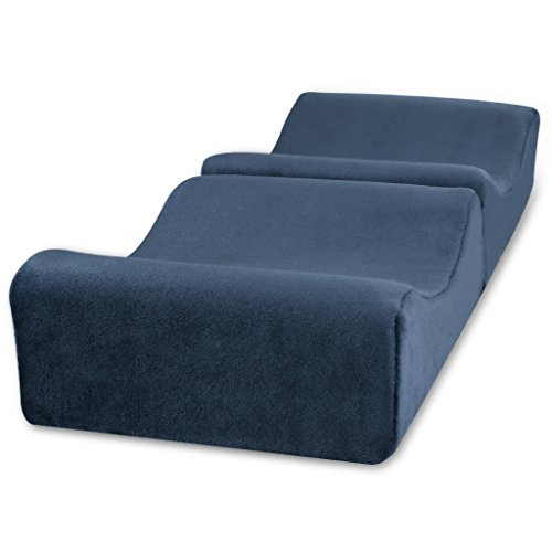 LANGRIA Knee Pillow Memory Foam Leg Pillows for Leg, Back, Hip Pain Relief, Foldable and Antibacterial Design with Removable Cover, CertiPUR-US Certified, (9.8 x 5.9 x 7.0 inches) Navy Blue by LANGRIA (Image #2)