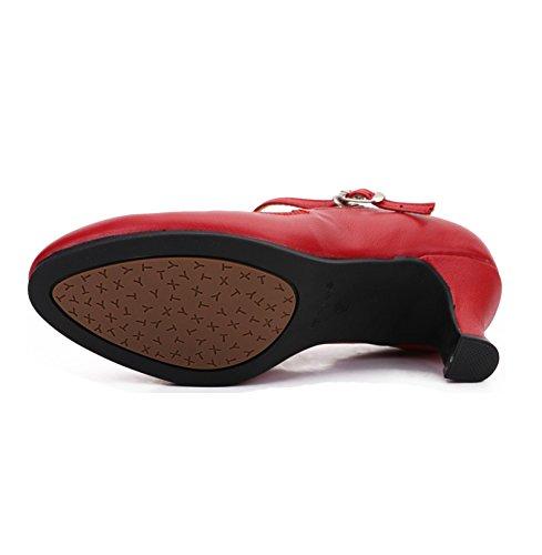 Fond De Womens Le Chaussures Chaussures Danse Mou Latine De Danse vers Lacez Rouge Salon Danse WYMNAME De Haut Chaussures Moyens Talons De 0EFd0xPq