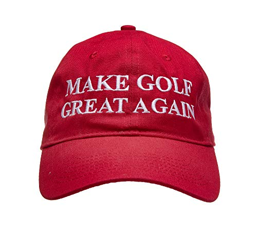 Golf Addiction Make Golf Great Again Funny Hat Cap Golf Team Captain Gift Red