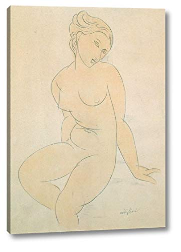 Seated Female Nude by Amedeo Modigliani - 8