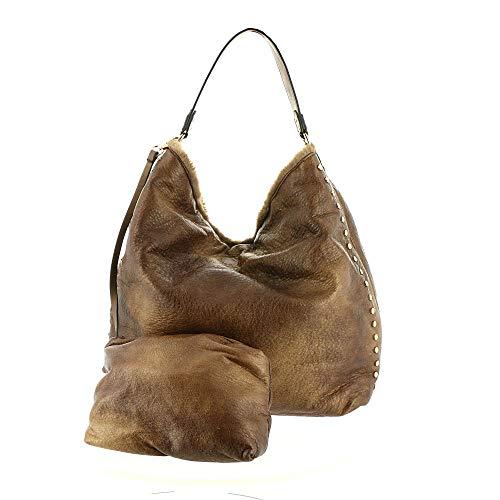 Handbag Hobo Faux Leather Vegan Fur Expressions Tan Urban Womens Vegas STqwCnP6