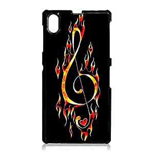 Hot Music Notes Phone Case For Sony Xperia Z1 With Hot-Fired Design