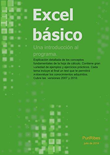 Excel básico: Una introducción al programa Excel (Spanish Edition)