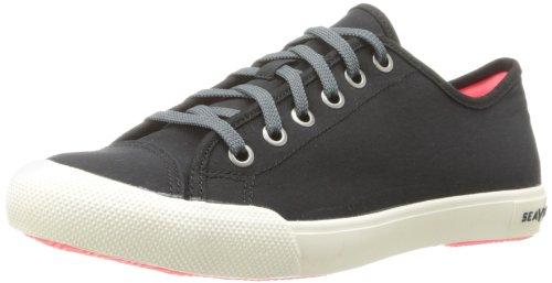 (SeaVees Women's Army Issue Low Standard Casual Sneaker, Black, 8 M US)
