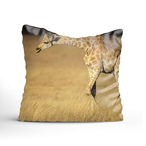 - FunnyLife Giraffe Art Pillowcase -Pillowcase Zipper, Pillow Protector Cover Cases one sided Printed