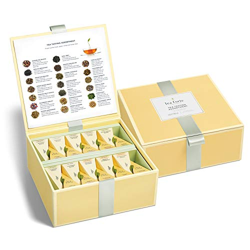 Tea Forte Tea Chests with 40 Handcrafted Pyramid Tea Infusers