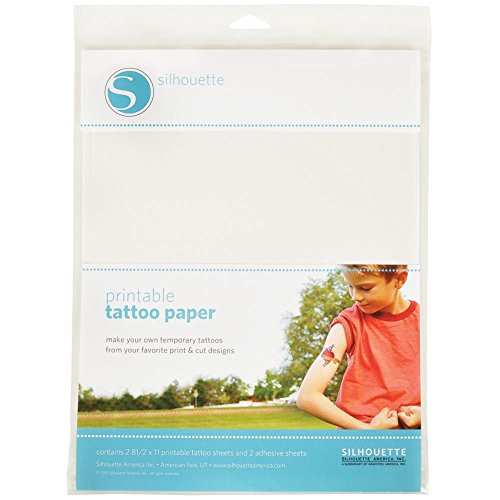 Temporary Tattoo Inkjet Paper - Silhouette (1-pack) Temporary Tattoo Paper 8.5in. x 11in. 2/pkg Siltat