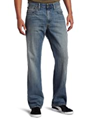 Levi's Size Chart  The Levi's® jeans for the man who knows the meaning of laid-back living. The 569® is a relaxed, roomy fit that's cut straight through the thigh and leg. Mid rise sits below the waist. Classic, five-pocket design with signa...