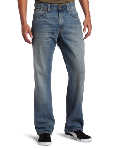 Dark Fit Jeans Blue - Levi's  Men's 569 Loose Straight Jean, Rugged, 36x30
