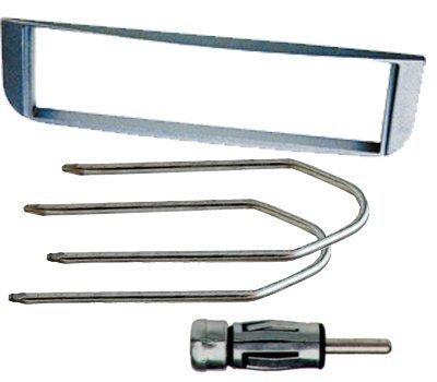 Mascherina autoradio 1 din per ALFA ROMEO Alfa 147 incluse chiavi per smontaggio radio e adattatore per antenna