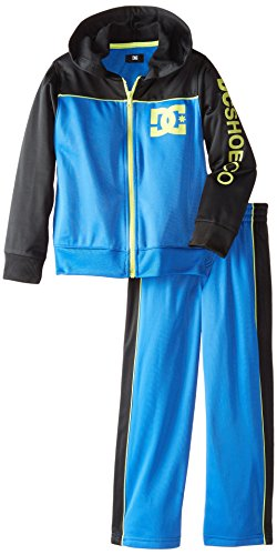 DC Little Boys' Hoody Track Suit, Blue, 4 (Joker Suit For Sale)