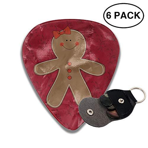 (Gingerbread Woman Clipart 351 Shape Classic Celluloid Guitar Picks For Guitar Bass - 6 Pack)