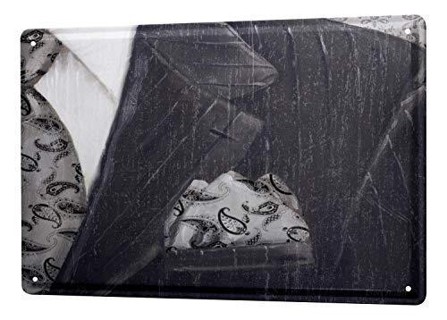 (Onepicebest Tin Sign XXL Boutique Business Suit Shirt tie 12