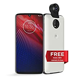 Moto Z4 with Alexa Hands-Free (Moto 360 camera included) – Unlocked Smartphone – 128 GB – Flash Gray