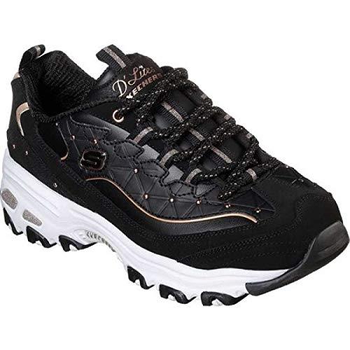 (スケッチャーズ) Skechers レディース ランニング?ウォーキング シューズ?靴 D'Lites Glamour Feels Sneaker [並行輸入品]