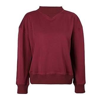 WanYang Mujer Sudaderas Moda Manga Larga Blusa Moda Cortas Otoño Invierno Tops Pullover Sweatshirt: Amazon.es: Ropa y accesorios