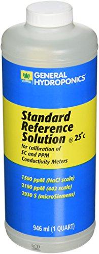 (General Hydroponics 1500 PPM Calibration Solution for Gardening, 1-Quart)