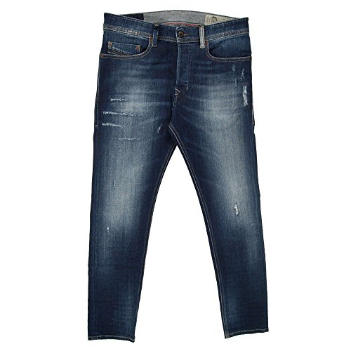 Diesel Jeans Tepphar Slim Fit Cotton Dark Wash Blue Mid-Rise 00CKRI-084GF-01 (W 34 - L 32)