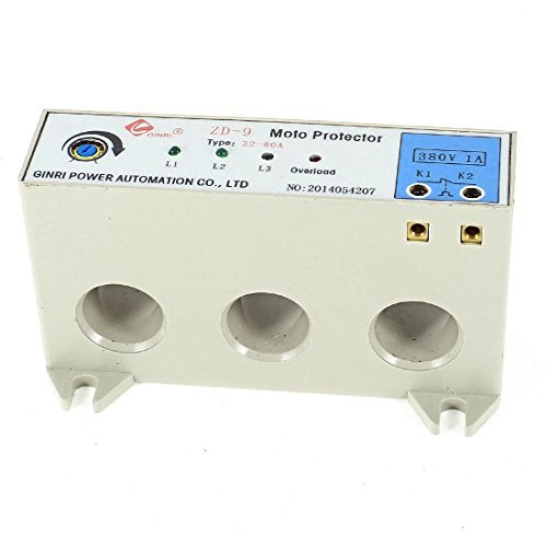 DealMux ZD-9 3 Phase 32-80A Adjustable Current Motor Circuit Protector