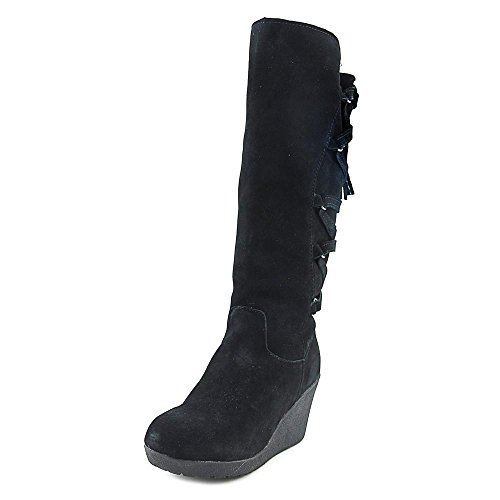 BEARPAW Womens Britney Wedge Boot Black Ii
