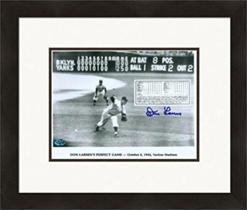 Autograph 223905 Inscribed 10-8-56 New York Yankees World Series Perfect Game Cf Matted & Framed Don Larsen Autographed 8 x 10 in. Photo