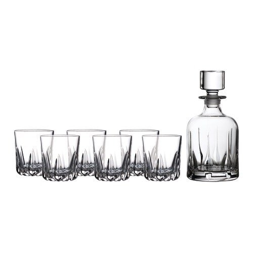 Royal Doulton Mode Whiskey Decanter & Tumblers, Set/4 ()