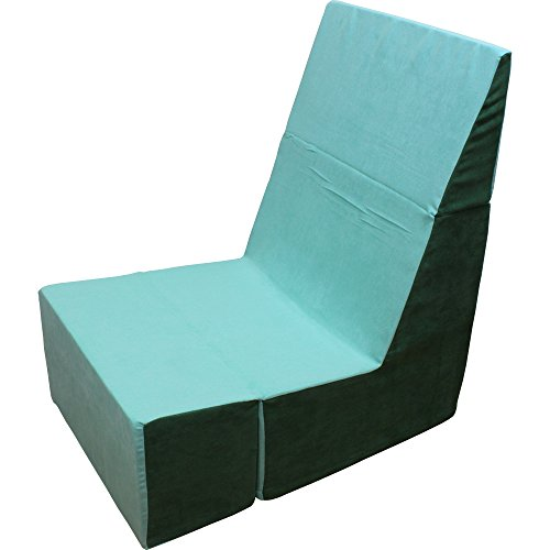 Green Folding Foam Chair   Converts From Recliner To Cube