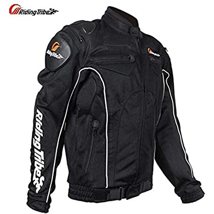 AXT Black Breathable Meshed Motorcycle Protective Riding Jacket