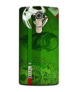 ColorKing Football Mexico 07 Green shell case cover for LG G4