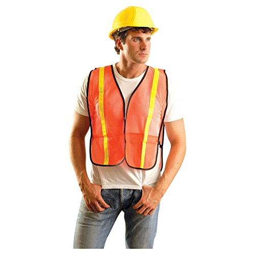 OccuNomix Regular Orange OccuLux® Lightweight Polyester And Mesh Non-ANSI Economy Vest With Front Hook And Loop Closure, 1