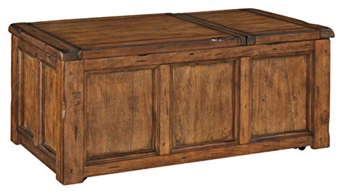 Signature Design by Ashley Tamonie Rect Lift Top Cocktail Table Medium Brown